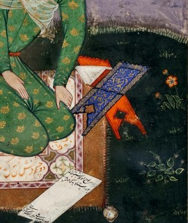 Mir_Sayyid_Ali_-_Portrait_of_a_Young_Indian_Scholar detail
