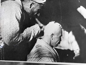 Tabib Treats His Patient Through Bloodletting Performed on the Head by Means of a Horn. The Tajik SSR, 1920s.